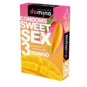 """Презервативы """"DOMINO"""" SWEET SEX MANGO (оральные) 3 шт"""
